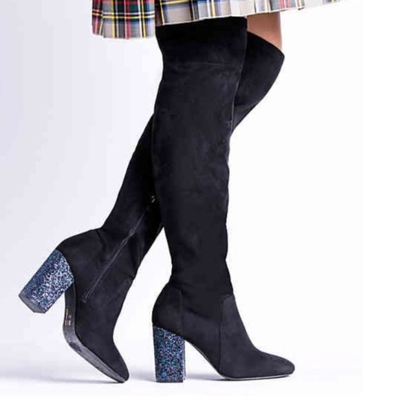 Mix No. 6 Huven Over The Knee Boots Textile